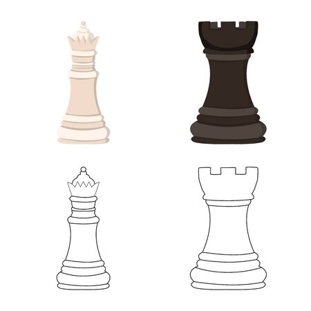 Isolated object of checkmate and thin symbol. Set of checkmate and target vector icon for stock.