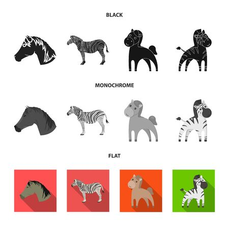 Vector design of trot and running icon. Collection of trot and clipart stock vector illustration. 版權商用圖片 - 125533283