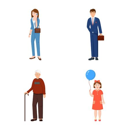 Vector design of family and people sign. Collection of family and avatar vector icon for stock.