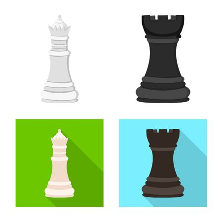 Isolated object of checkmate and thin icon. Set of checkmate and target vector icon for stock.