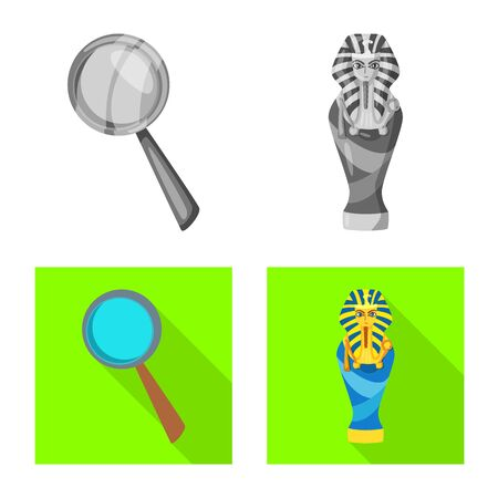 Isolated object of story and items icon. Collection of story and attributes vector icon for stock. Illustration