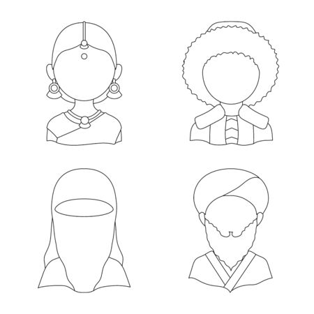 Vector illustration of imitator and resident . Collection of imitator and culture stock symbol for web.