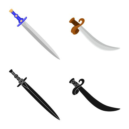 Vector design of game and armor sign. Collection of game and blade stock vector illustration.