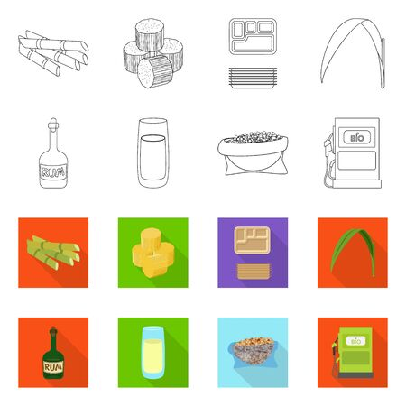 Isolated object of farm and agriculture . Set of farm and technology vector icon for stock. Иллюстрация