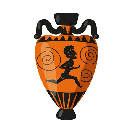 Vector design of amphora and artifact icon. Collection of amphora and civilization stock vector illustration.