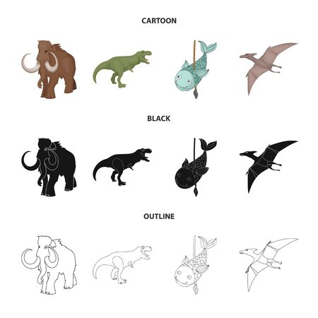 Vector illustration of animal and character icon. Collection of animal and ancient stock vector illustration. Ilustração