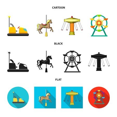 Vector design of fun and horse sign. Collection of fun and circus vector icon for stock. Illustration