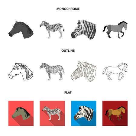 Isolated object of trot and running symbol. Collection of trot and clipart vector icon for stock.