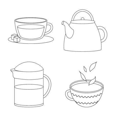 Vector illustration of food and natural logo. Set of food and black vector icon for stock.