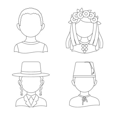 Vector illustration of imitator and resident icon. Set of imitator and culture vector icon for stock.