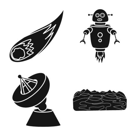 Vector design of colonization and sky icon. Collection of colonization and galaxy stock vector illustration.