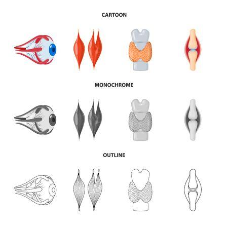 Vector design of biology and scientific icon. Set of biology and laboratory stock vector illustration. Ilustração