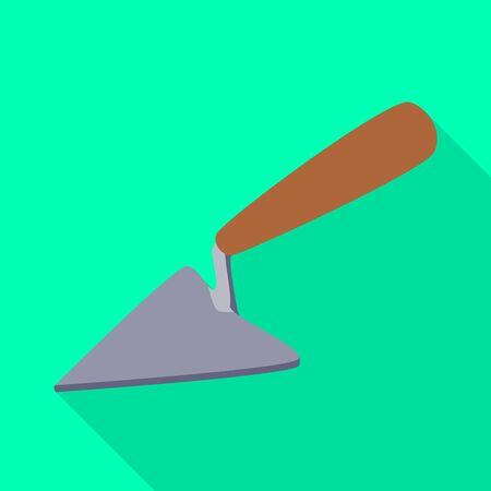 Isolated object of tool and trowel. Collection of tool and repair stock symbol for web.