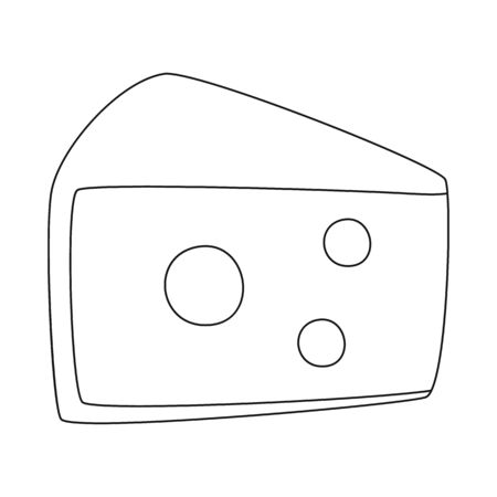 Isolated object of cheese and block. Collection of cheese and appetizer stock symbol for web.