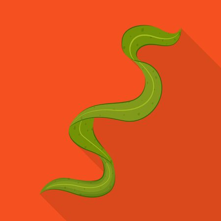 Isolated object of algae and spiral sign. Collection of algae and natural vector icon for stock.