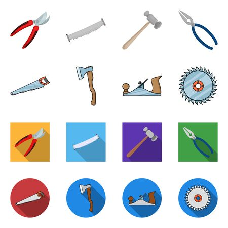 Vector illustration of tool and construction sign. Collection of tool and carpentry vector icon for stock.