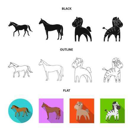 Vector design of trot and running sign. Collection of trot and clipart vector icon for stock. 向量圖像