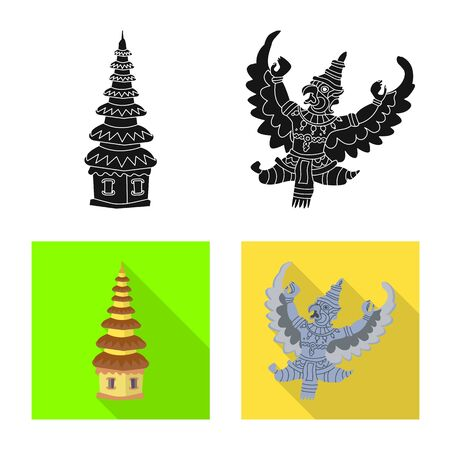 Isolated object of and travel symbol. Collection of and traditional vector icon for stock. Ilustração