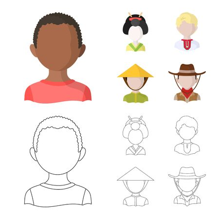 Isolated object of imitator and resident sign. Collection of imitator and culture stock symbol for web. Ilustrace