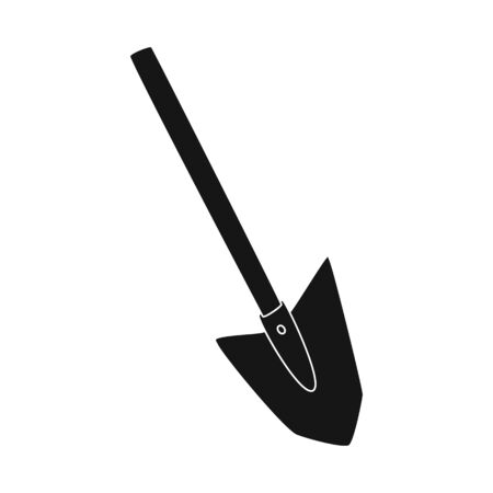 Isolated object of shovel and tool logo. Set of shovel and construction stock symbol for web. Illustration