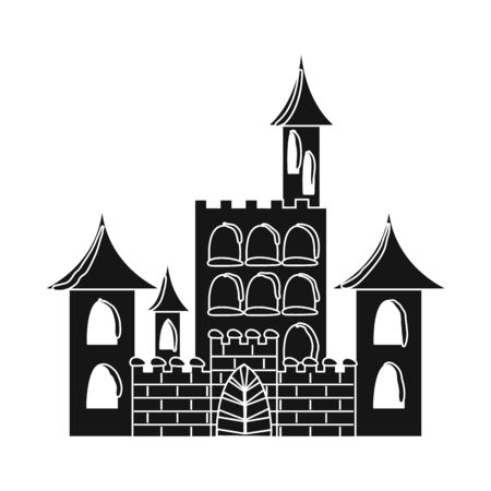 Isolated object of castle and ice sign. Collection of castle and sculpture stock vector illustration. Stock Vector - 125858042