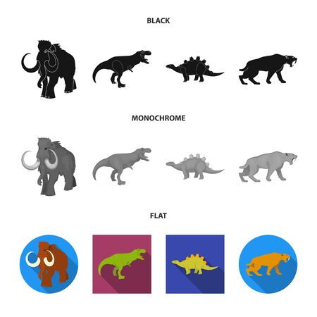 Isolated object of animal and character symbol. Set of animal and ancient stock vector illustration. Ilustração