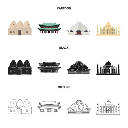Vector illustration of town and chinatown logo. Set of town and asian stock vector illustration.