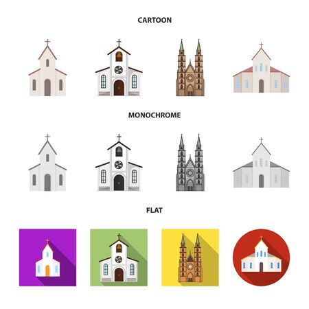 Vector design of religion and wedding sign. Collection of religion and house stock vector illustration.