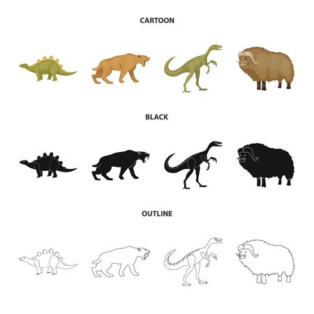 Vector illustration of animal and character symbol. Collection of animal and ancient vector icon for stock.