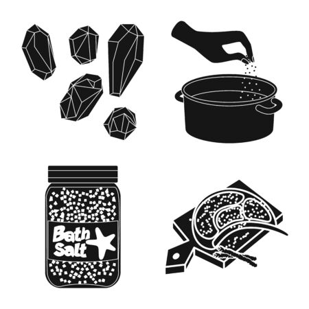 Vector design of natural and baking logo. Set of natural and food stock vector illustration. Ilustração