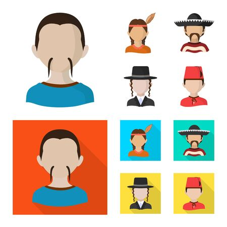 Vector illustration of imitator and resident icon. Collection of imitator and culture vector icon for stock.
