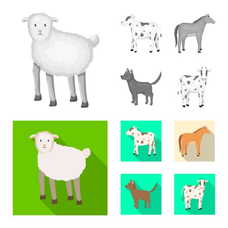 Vector illustration of breeding and kitchen sign. Collection of breeding and organic stock vector illustration.