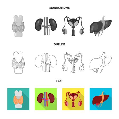 Vector design of biology and scientific sign. Collection of biology and laboratory vector icon for stock. Illustration