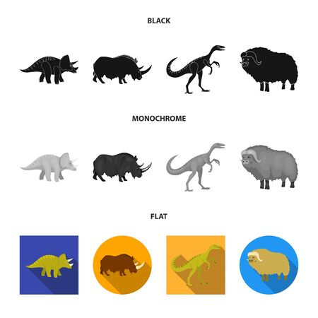 Vector illustration of animal and character symbol. Collection of animal and ancient stock symbol for web. 일러스트