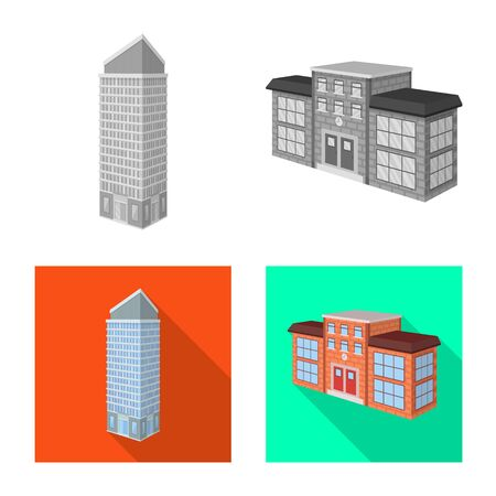 Vector illustration of construction and building . Collection of construction and estate vector icon for stock.