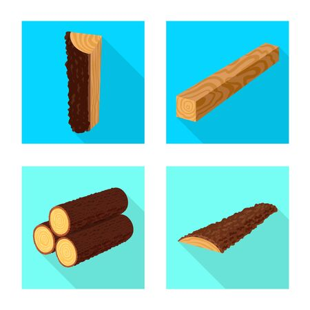 Vector illustration of material and nature icon. Set of material and raw stock vector illustration. Векторная Иллюстрация