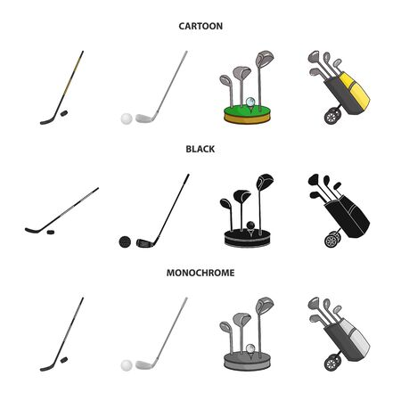 Vector illustration of and stick icon. Collection of and golf vector icon for stock. Illustration