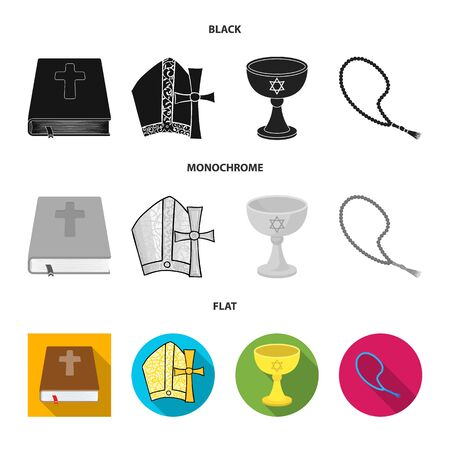 Vector illustration of muslim and items icon. Collection of muslim and candle stock symbol for web.