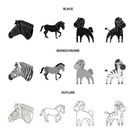 Vector design of trot and running symbol. Set of trot and clipart stock symbol for web. 向量圖像