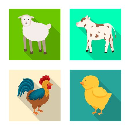 Vector design of breeding and kitchen symbol. Set of breeding and organic stock symbol for web.