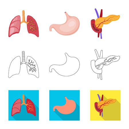 Vector illustration of biology and scientific . Collection of biology and laboratory stock symbol for web.