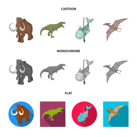 Vector design of animal and character sign. Collection of animal and ancient stock vector illustration.
