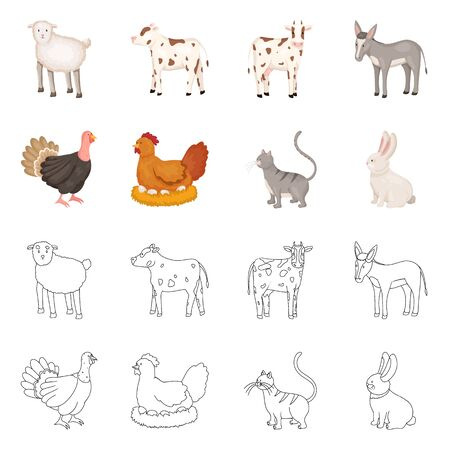 Isolated object of breeding and kitchen. Collection of breeding and organic stock symbol for web.