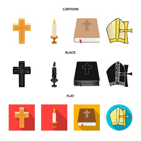 Vector design of muslim and items icon. Collection of muslim and candle stock vector illustration.