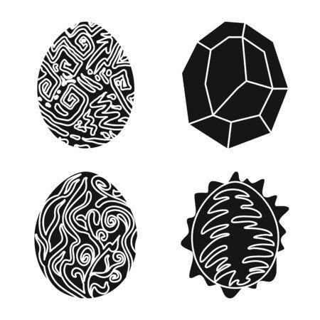 Vektordesign des fantastischen und netten Zeichens. Set mit fantastischen und magischen Aktiensymbolen für das Web. Vektorgrafik