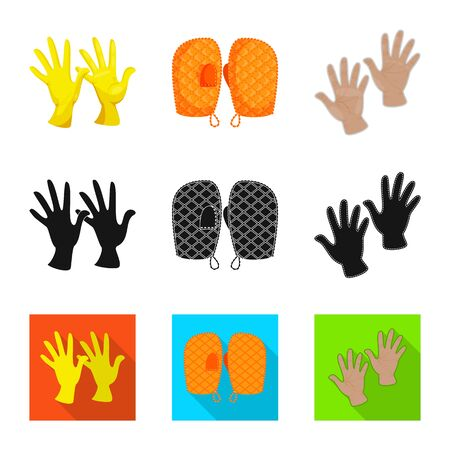 Isolated object of silhouette and safety symbol. Collection of silhouette and comfort vector icon for stock. Stock fotó - 126376604