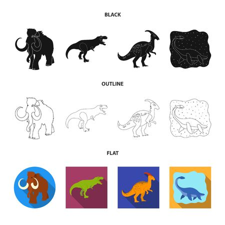 Vector design of animal and character . Collection of animal and ancient vector icon for stock.
