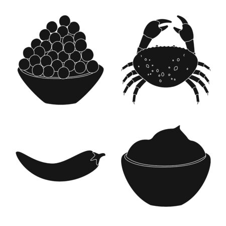 Vector illustration of organic and cooking sign. Collection of organic and flavors vector icon for stock.