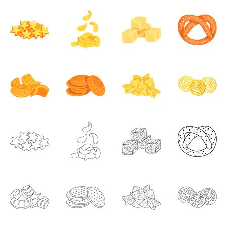 Isolated object of Oktoberfest and bar symbol. Collection of Oktoberfest and cooking stock vector illustration.