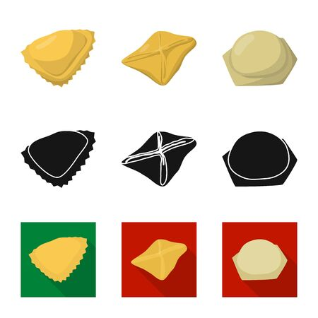 Vector illustration of products and cooking logo. Collection of products and appetizer vector icon for stock. Stock Vector - 126402642